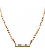 Dyrberg Kern 339134 Damer trunca steg guldpläterat halsband med swarovski element