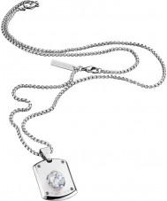 Police 25552PSS-01 Man kristall huvudet silver stål halsband med Swarovski kristaller