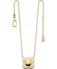 Orla Kiely N4022 Damer seriekoppling 18ct guld grädde blomma hänge halsband