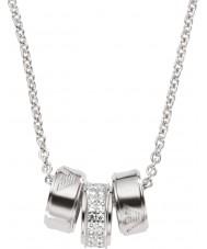 Emporio Armani EG3046040 Damer signatur silverhalsband med silver rolo kedja