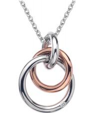 Hot Diamonds DP373 Damer evighet silver och ökade guld vermeil hängande
