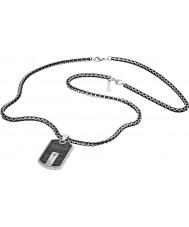Police 25492PSB-01 Mens hybrid silver stål halsband