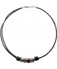 Fossil JF84068040 Mens tappning tillfällig svart läder halsband